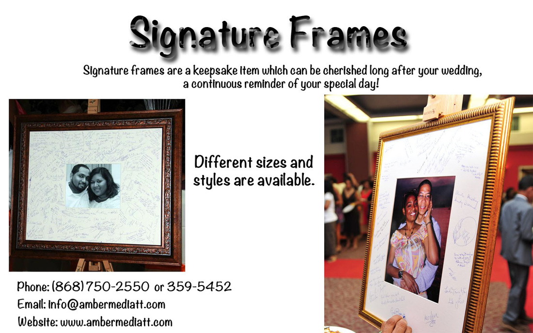 Wedding Guest Signature Frames | Amber Media Productions